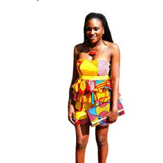Yellow And Red  African Ankara Print Short Set - Zabba Designs African Clothing Store  - 3