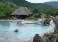 Papallacta, a resort in Ecuador where you can soak in the volcano heated hotsprings! I went there at night and you couldn't see it this well!