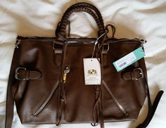 Stitch Fix August 2015 Urban Expressions Aiden Zipper Detail Satchel (Brown) https://www.stitchfix.com/referral/4371189