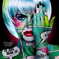 Pop art girl dots 56 Ideas for 2019 Andy Warhol, Tableau Pop Art, Pop Art Makeup, Ben Day Dots, Pop Art Wallpaper, Pop Art Girl, Poster Art, Arte Pop, Illustration Art