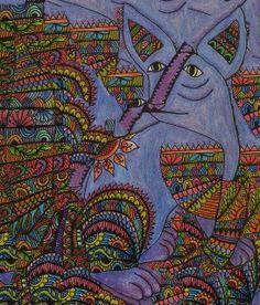 Mexican Art Alebrije dog by Cynthia Cabello