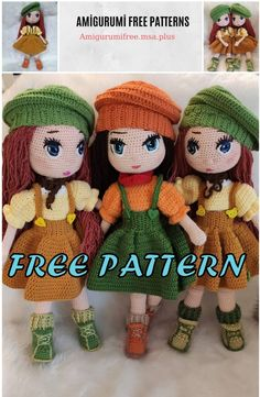 We bring you all kinds of sharing about Amigurumi. In this article we are waiting for you from each other beautiful amigurumi doll free patterns. Amigurumi Giraffe, Doll Amigurumi Free Pattern, Doll Patterns Free, Crochet Dolls Free Patterns, Amigurumi Doll, Knitting Patterns Free, Drops Kid Silk, Crochet Whale, Knitted Dolls