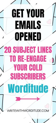 Boost your email marketing open rates with these 20 attention-getting subject line ideas for small businesses, solopreneurs and entrepreneurs. #emailmarketing #email #marketing #subjectlines