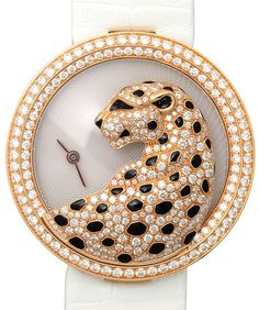 Panthere Divine Mother Of Pearl Dial 18k Rose Gold Dial Ladies Watch
