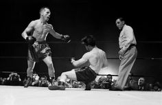 Tony Zale knocks out Rocky Graziano in their 3rd fight.