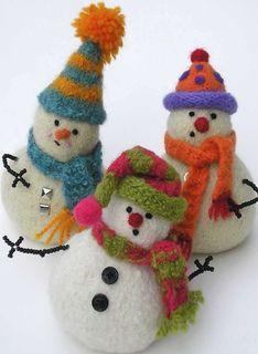 Woolly Snowmen!