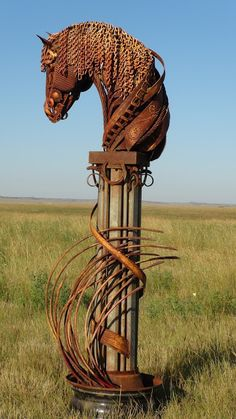 Horse Scrap Metal Sculpture - by John Lopez Metal Sculpture Artists, Sculpture Textile, Steel Sculpture, Horse Sculpture, Sculpture Ideas, Sculpture Projects, Metal Sculptures, Abstract Sculpture, Bronze Sculpture