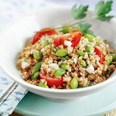 Healthy 30-Minute Meals | Diabetic Living Online - Tabboulah w/Edamame & Feta