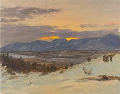Winter Twilight from Olana, 1871 - Frederic Edwin Church