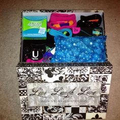 Period Box For The Tween Just Starting Her Period. It Has Pads, Small  Tampons