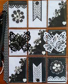 Black and white pocket letter - Scrapbook.com