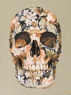 Skull by Gerard King Skull Artwork, Skull Painting, Symbole Tattoo, Skull Girl Tattoo, Skull Anatomy, Totenkopf Tattoos, Skull Pictures, Crane, Skull Wallpaper