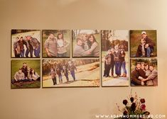 Great collage idea for canvases...the tin pictures are really cool too. Just saw them yesterday!