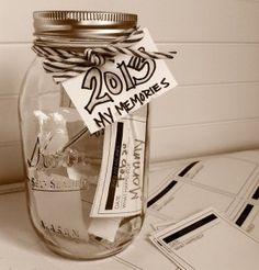 Een pot voor kinderen om herinneringen in te doen.