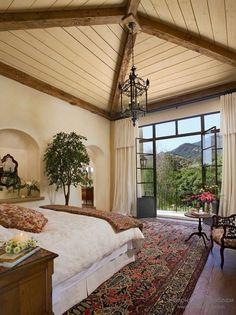 Необычные декор спальни в средиземноморском стиле