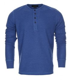 Long Sleeve Waffle Grandad Top, NOW £9.99