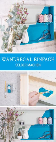 DIY-Anleitung für ein Wandregal aus einer Schublade, Upcycling / diy tutorial for a wall rack made of a drawer via DaWanda.com
