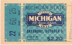 1935 at Ann Arbor: Michigan State 25, Michigan 6