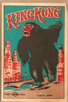 King Kong matchbox label