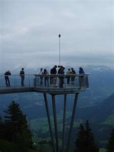 On the top of Mt Stanserhorn- the viewing platform... incredible views!
