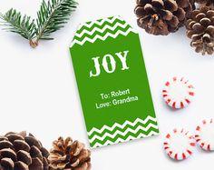 Christmas Gift Tag Printable Christmas Gift Tag Printable Editable PDF Christmas Gift Tag DIY Gift tag INSTANT DOWNLOAD