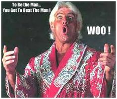 to be the man you gotta beat the man whooo! Wrestling Memes, Wrestling Stars, Wrestling Divas, Wwf Superstars, Dad Pictures, Ric Flair, Space Mountain, Wwe Wallpapers, Marilyn Monroe Photos