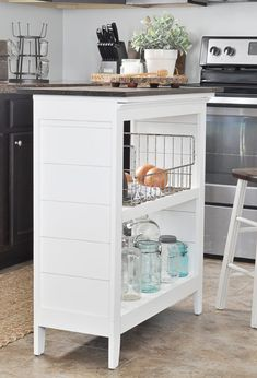 25 Easy DIY Kitchen Island Ideas That You Can Build on a Budget - How to make a #DIY Bookshelf Kitchen Island #homedecor