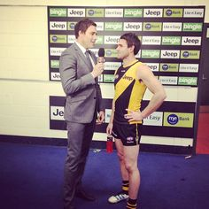 Richo chats to Newman after epic win over Saints