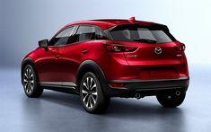 Télécharger fonds d'écran Mazda CX-3, 2019, crossover compact, le nouveau rouge CX-3, Japonais voitures, Mazda