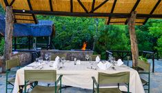 Good spot for an outdoor meal.   Matobo Hills Lodge Restaurant