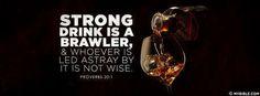 Wine Is A Mocker.