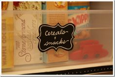 super cute blog post on how to organize your pantry on a budget