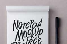 This is a great psd notepad mockup to let you showcase your sketches or design easily and with style. Use the...