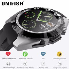 Find More Smart Watches Information about UniFish UG5 Smartwatch Phone MT2502 240*240 380mAh Bluetooth 4.0 Heart Rate Smart Watch Pedometer Sport Watches  iOS Android,High Quality watch wristwatch,China watch cellphone Suppliers, Cheap watch list from UNIFISH Store on Aliexpress.com