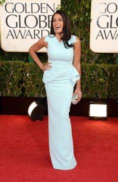 Elegant & light worn by Rosario Dawson - Golden Globes Red Carpet - The Washington Post