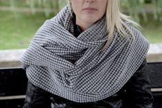 Grey Infinity Scarf  Grey Oversized Scarf  by MillieMooKnitwear