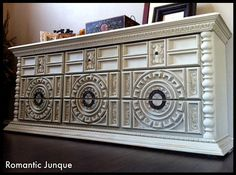 mixed emotions ~ Chunky Vintage Nine Drawer Dresser/Media Console ~CUSTOM ORDER