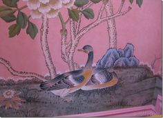 hand-painted wallcovering by De Gournay