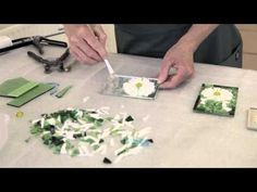 How to make a free form flower in stained glass mosaic - YouTube