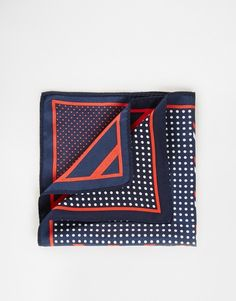 $11, 4 Way Pocket Square In Stripe And Polka Dot by Asos. Sold by Asos. Click for more info: http://lookastic.com/men/shop_items/165718/redirect