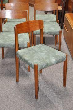 Item #I329 Set of Six Teak Dining Chairs c.1950s | Mccarneys Furniture