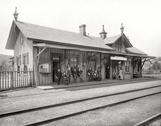 "Circa 1899. ""R.R. depot at Garrison, New York."" http://www.shorpy.com/node/20970 Detroit Photographic"