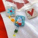 Winter craft: DIY snow pin gifts