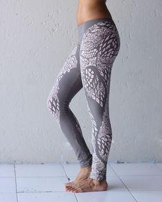 Owl Leggings - Printed Leggings - Graphic Leggings - Gray Leggings - Organic Cotton Leggings on Etsy, $68.94 CAD