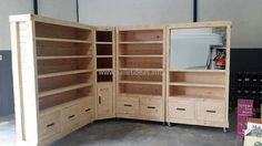 1 pallet vanity with storage shelving