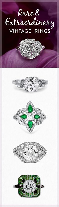 Which one of these rare and extraordinary vintage rings is your favorite?