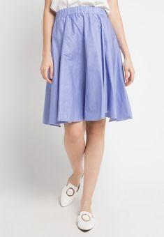 Mineola Stripe Skirt Blue