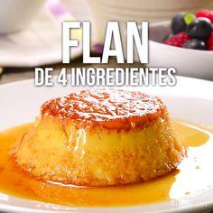 Esta receta de flan es muy sencilla ya que sólo necesitas 4 ingredientes para prepararla. Un rico flan económico en poco tiempo.