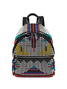 Fendi - Zaino Nylon Studded Backpack