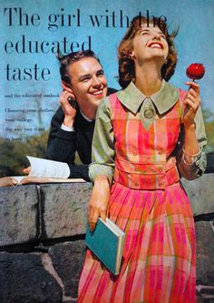 The girl with the educated taste.....Mademoiselle magazine, 1959